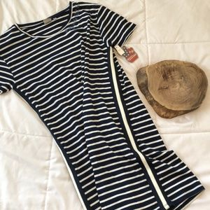 """Junk Food """"Party in the USA"""" Striped Dress Size M"""